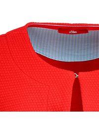 S.oliver Red Sweatblazer