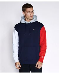 Tommy Hilfiger Blue Colorblock Classic Hoodie for men