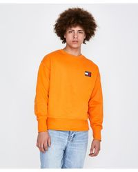 Tommy Hilfiger Tjm Badge Crew Jumper Orange for men