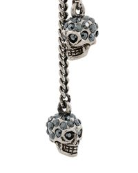 Alexander McQueen - Multicolor Embellished Skull Clip-on Earrings - Lyst