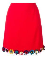Mary Katrantzou Red Clovis Skirt