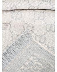 Gucci Multicolor Wool Jacquard Scarf
