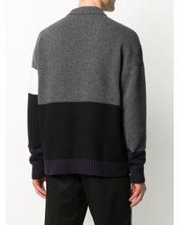 Off-White c/o Virgil Abloh Gray Color Block Sweater for men