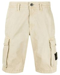 Stone Island Natural Beige T.co Old Cargo Bermuda Shorts