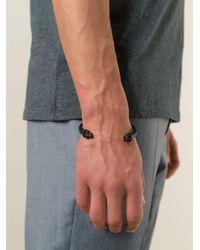 Alexander McQueen - Black Twin Skull Bracelet for Men - Lyst