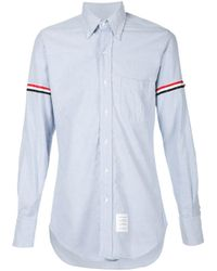 Thom Browne Multicolor Striped Sleeves Shirt for men