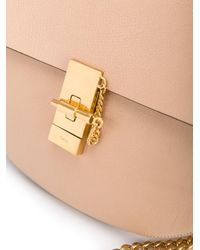 Chloé Natural Drew Small Leather Crossbody Bag