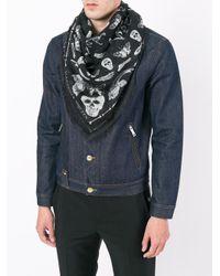 Alexander McQueen - Multicolor Skull Wool And Silk Scarf for Men - Lyst