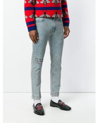Gucci Blue Coco Capitan Cropped Jeans for men