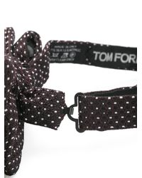 Tom Ford - Black Textured Bow Tie for Men - Lyst