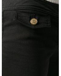 Balmain Black Wide-leg Trousers