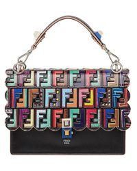 Fendi Multicolor Kan I Logo Handbag