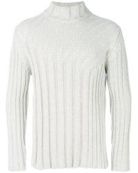 Jil Sander Multicolor Ribbed Knit Pullover for men
