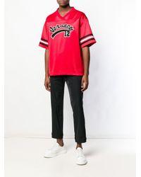 T-shirt con logo baseball team di Versace in Multicolor da Uomo
