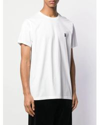 Burberry White Monogram Motif Cotton T-shirt for men