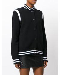 Givenchy - Black Logo Knitted Bomber Jacket - Lyst