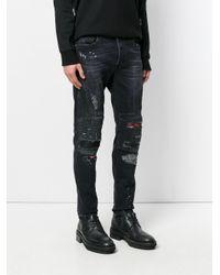 Marcelo Burlon Multicolor Ain Biker Jeans for men