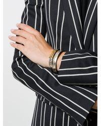 Saint Laurent - Metallic Leather Bracelet - Lyst