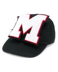 Cappello con toppa di MSGM in Black