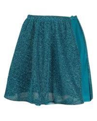 Oseree Blue Lurex Lumière Skirt for men