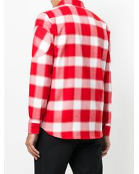 Givenchy Red Tartan Shirt With Graphic Inserts for men