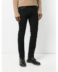 Versace Black Studded Slim Fit Jeans for men