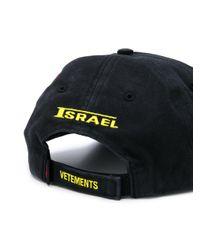 Cappello x Reebok Israel di Vetements in Multicolor