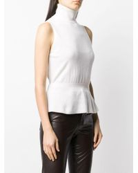 Top a coste di Veronica Beard in White