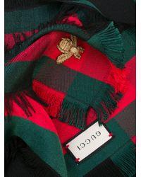 Gucci Multicolor Web Trim Shawl for men