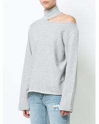 RTA Multicolor Cut-out Detail Sweatshirt