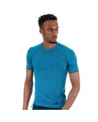 Adidas Blue Primeknit T-shirt for men