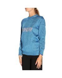 Alberta Ferretti Blue Women's Rainbow Week Capsule Days Of The Week Sunday Sweater