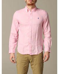 Polo Ralph Lauren Pink Shirt for men
