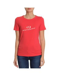 Emporio Armani - Red T-shirt Women - Lyst