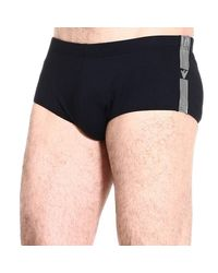 Emporio Armani - Black Giorgio Armani Men's Swimwear for Men - Lyst