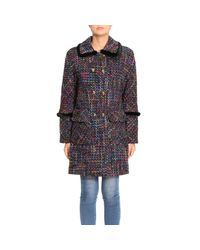 Blumarine - Multicolor Coat Women - Lyst