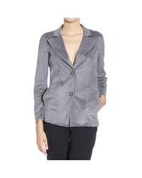 Giorgio Armani | Gray Women's Blazer | Lyst