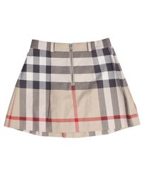 Burberry - Gray Gonna Check Con Zip - Lyst