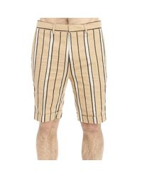 Brian Dales | Natural Trouser Short Striped for Men | Lyst