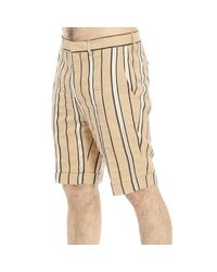 Brian Dales - Natural Trouser Short Striped for Men - Lyst
