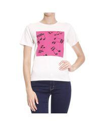 Saint Laurent | White T-shirt Woman | Lyst