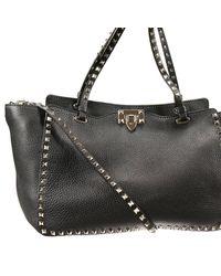 Valentino | Black Rockstud Bag | Lyst