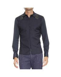 Emporio Armani | Blue Shirt Man for Men | Lyst