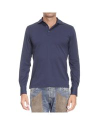 Cruciani | Blue T-shirt Man for Men | Lyst