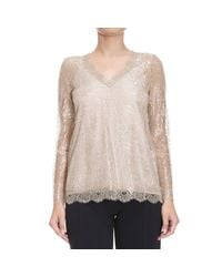 Twin Set | Metallic Sweater Woman | Lyst
