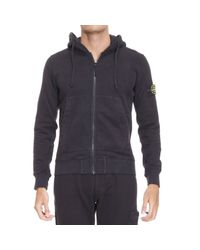 Stone Island | Black Stone Island Hooded Sweatshirts for Men | Lyst