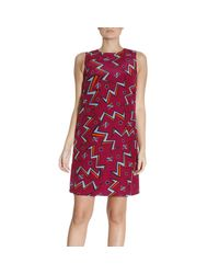 M Missoni | Red Dress Women | Lyst