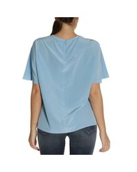M Missoni - Blue Top Women - Lyst