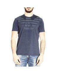 Emporio Armani   Blue T-shirt Men for Men   Lyst