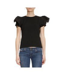 Pinko | Black T-shirt Women | Lyst